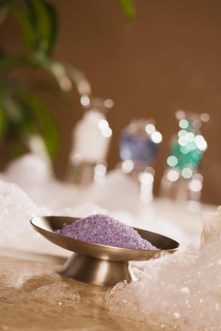 Epsom salts and bath bubbles