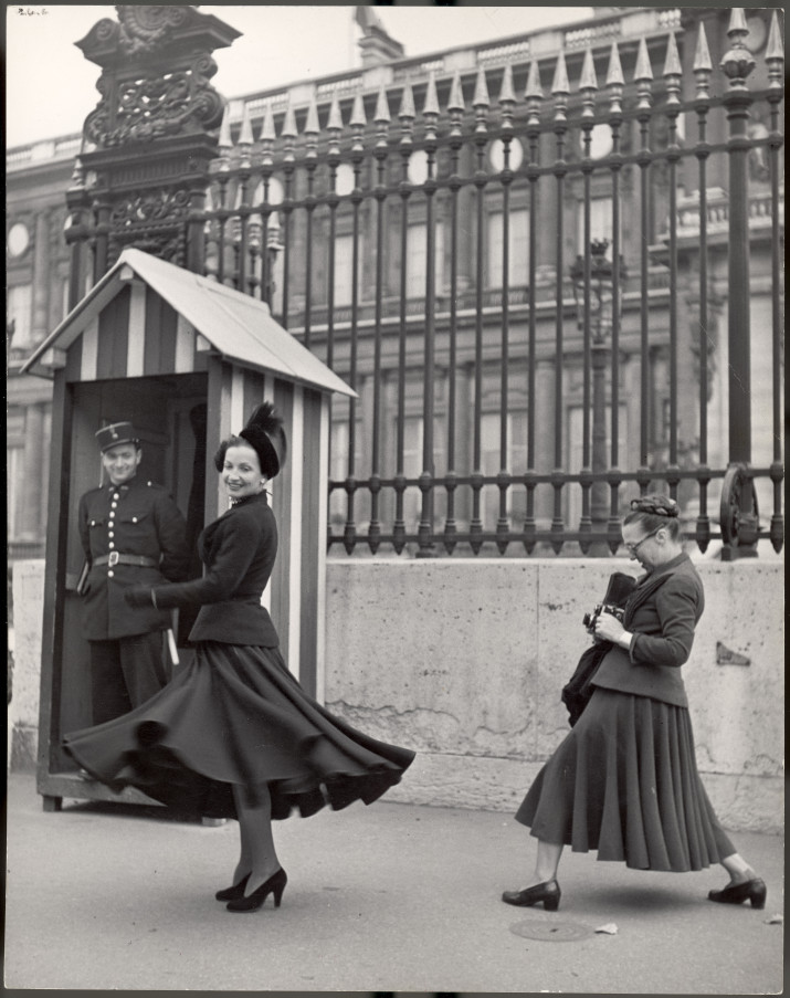 FRANCE - OCTOBER 01:  Model photographed by Louise Dahl-Wolfe for Harpers' Bazaar.  (Photo by Yale Joel/The LIFE Picture Collection/Getty Images)