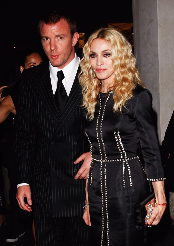 """LONDON - SEPTEMBER 01: Director Guy Ritchie and Madonna attend the After Party for the World Premiere of """"RocknRolla"""" at Automat on September 1, 2008 in London, England. (Photo by Jon Furniss/WireImage)"""
