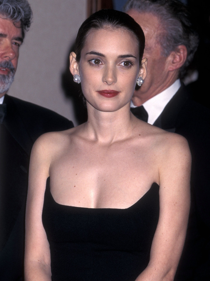 LOS ANGELES - FEBRUARY 16: Actress Winona Ryder attends the John Huston Award for Artists Rights Honors Martin Scorsese on February 16, 1996 at the Century Plaza Hotel in Los Angeles, California. (Photo by Ron Galella, Ltd./WireImage)