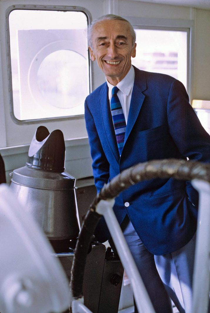 UNITED STATES - MARCH 01: THE UNDERSEA WORLD OF JACQUES COUSTEAU - 3/1/73, Chronicles the exotic undersea explorations of Jacques-Yves Cousteau and his crew aboard the ex-Royal Navy minesweep, The Calypso. , (Photo by ABC Photo Archives/ABC via Getty Images)