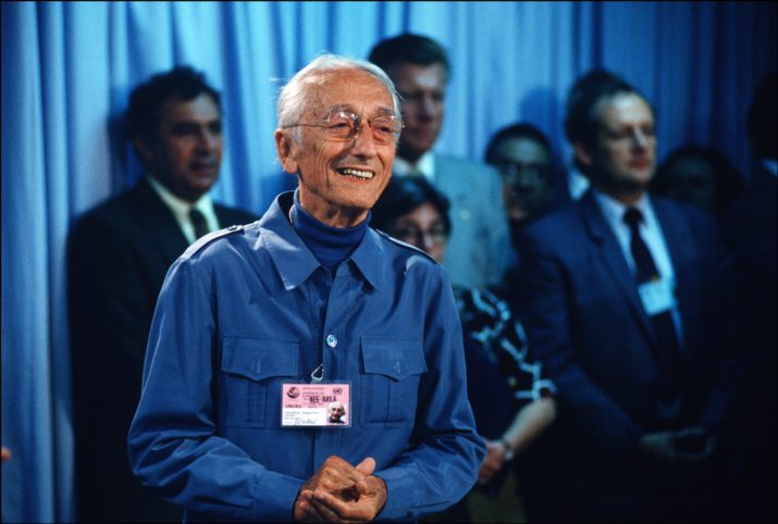 BRAZIL - JUNE 05: Earth summit in Rio de Janeiro, Brazil on June 02, 1992 - Jacques-Yves Cousteau. (Photo by Antonio RIBEIRO/Gamma-Rapho via Getty Images)