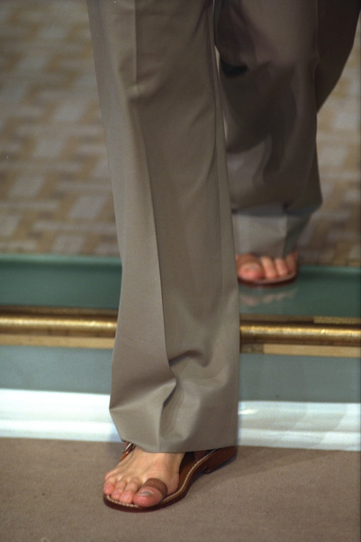 HERMES: SPRING-SUMMER 1999 PRET A PORTER COLLECTION (Photo by THIERRY ORBAN/Sygma via Getty Images)