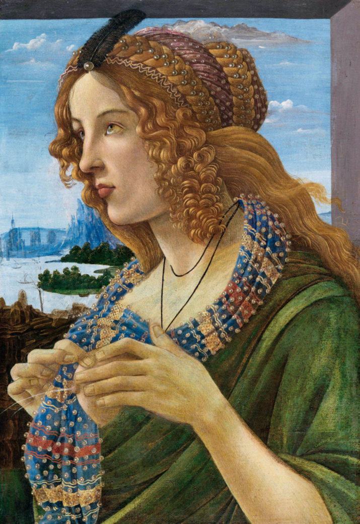 Allegorical Portrait of a Woman (Simonetta Vespucci), 1480-1490. Private Collection. Artist :  Botticelli, Sandro, (Workshop). (Photo by Fine Art Images/Heritage Images/Getty Images)