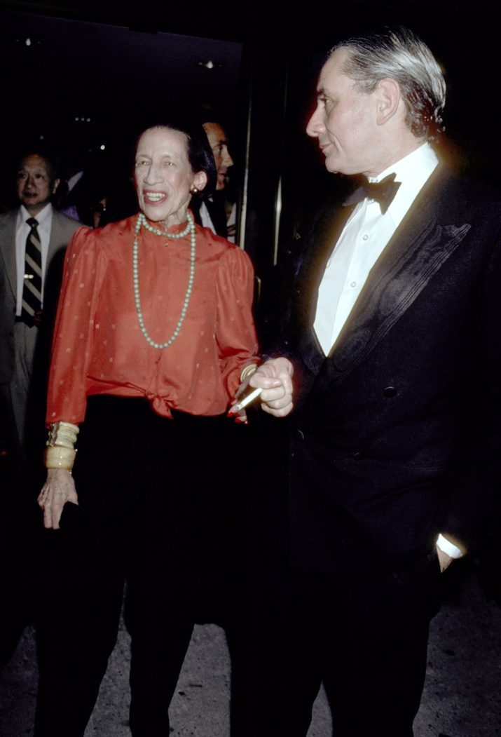 Diana Vreeland and Kenneth Jay Lane (Photo by Ron Galella/WireImage)