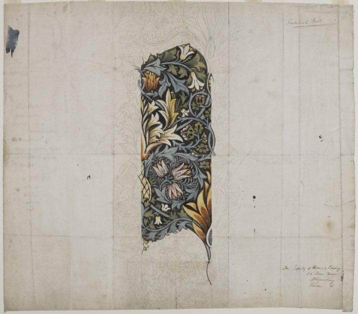 Design for snakehead', 1876. Artist: William Morris. (Photo by National Museum & Galleries of Wales Enterprises Limited/Heritage Images/Getty Images)