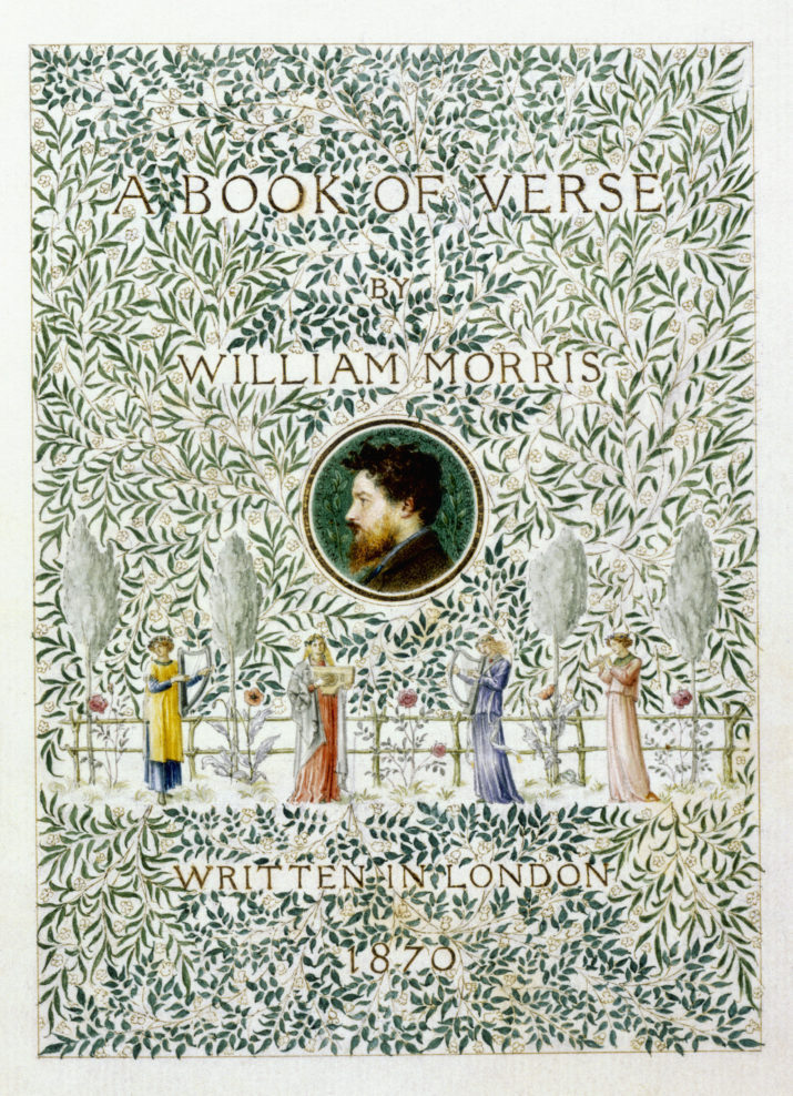 A Book of Verse Titlepage Illustration by Charles Fairfax Murray and George Wardle (Photo by © Historical Picture Archive/CORBIS/Corbis via Getty Images)