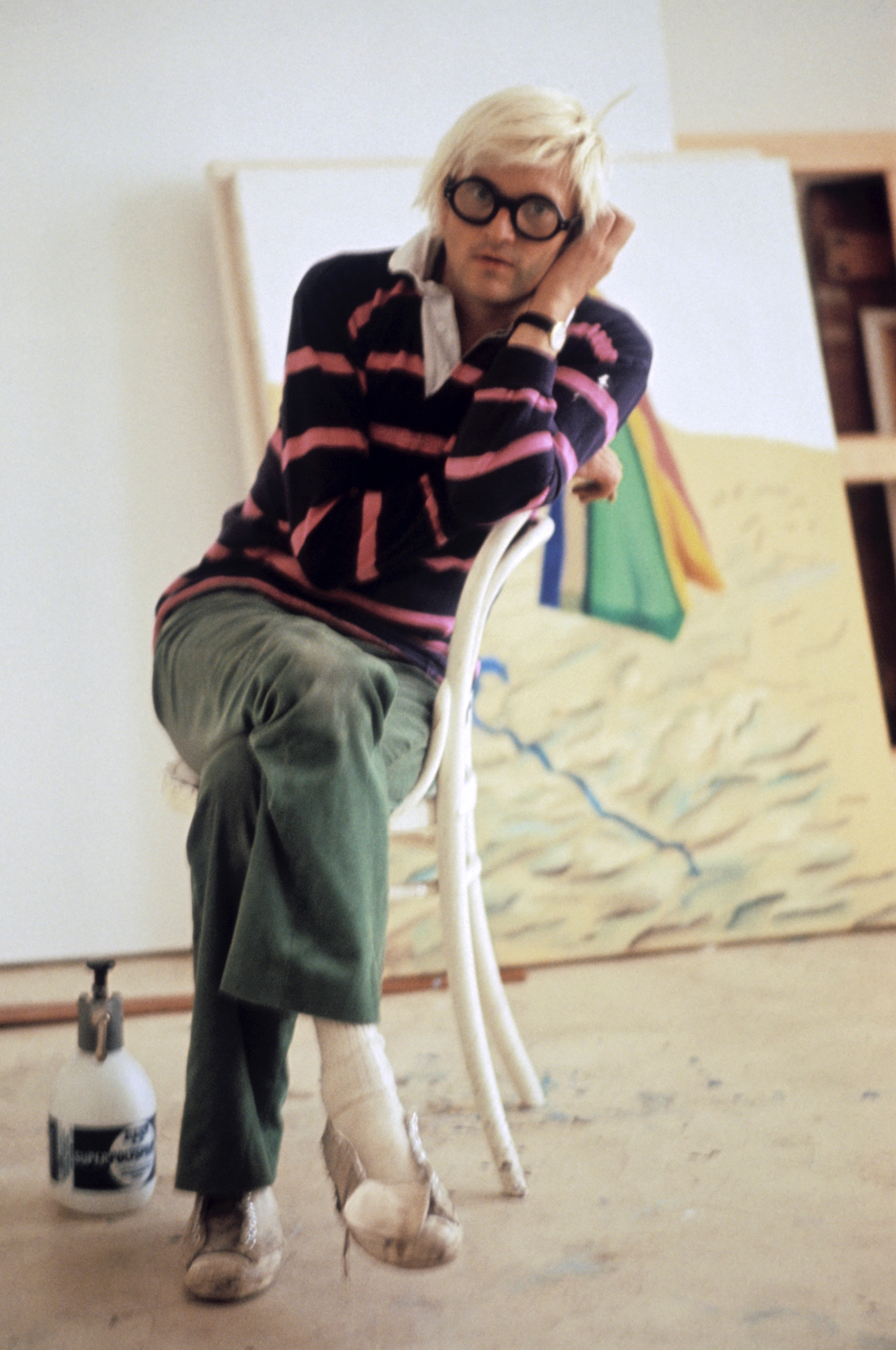 David Hockney photographed in 1971.  (Photo by King Collection/Photoshot/Getty Images)